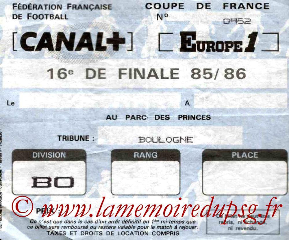 1986-02-15  PSG-Montpellier (16ème Finale Aller CF, Sans nom)