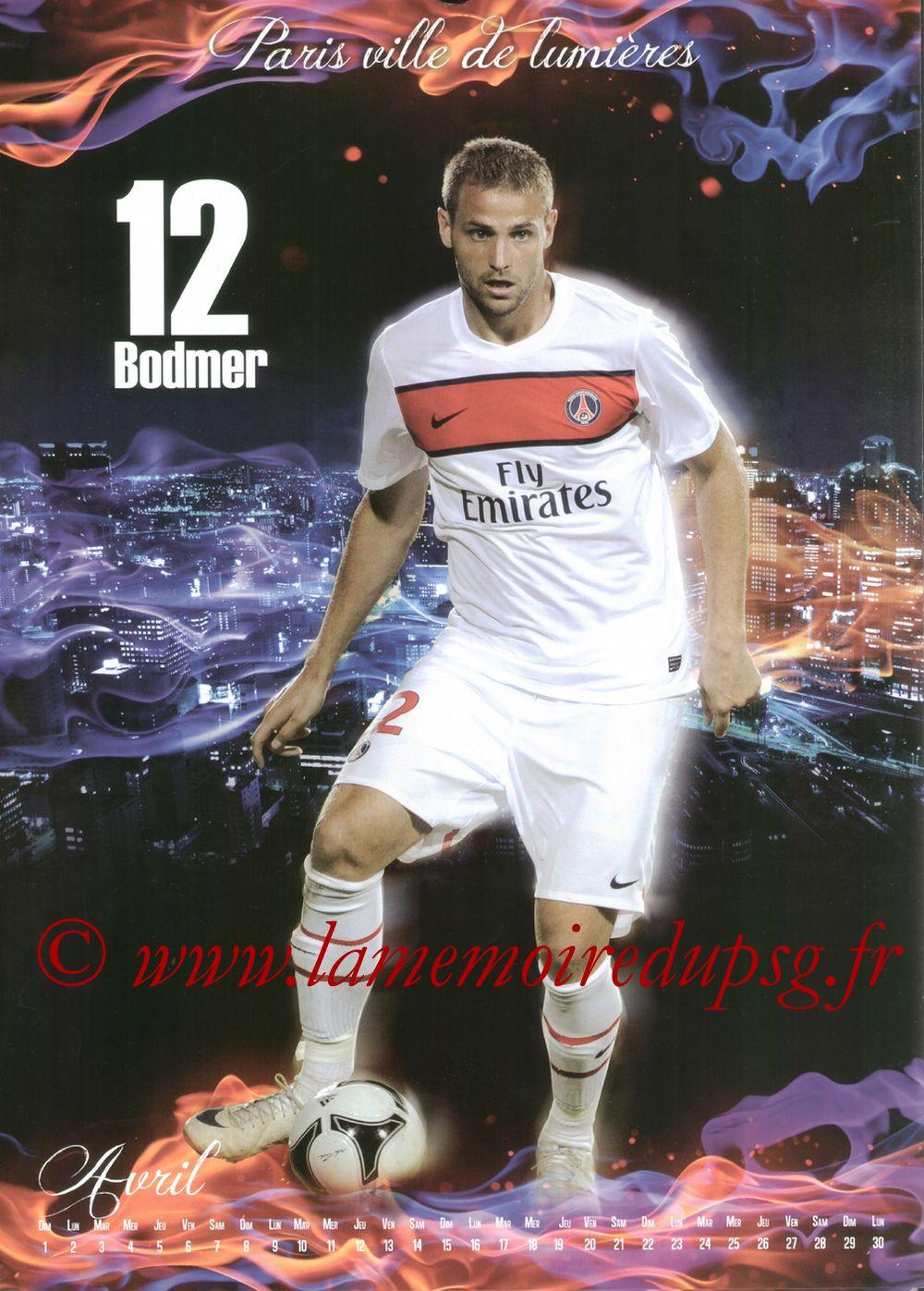 Calendrier PSG 2012bis - Page 04 - Mathieu BODMER