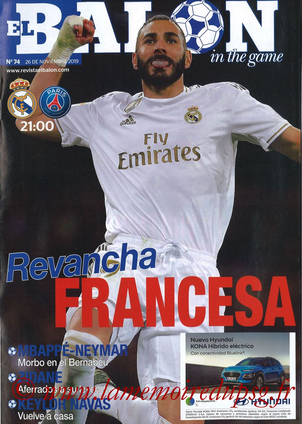 2019-11-26  Real Madrid-PSG (5ème C1, El Balon in the Game N°74)