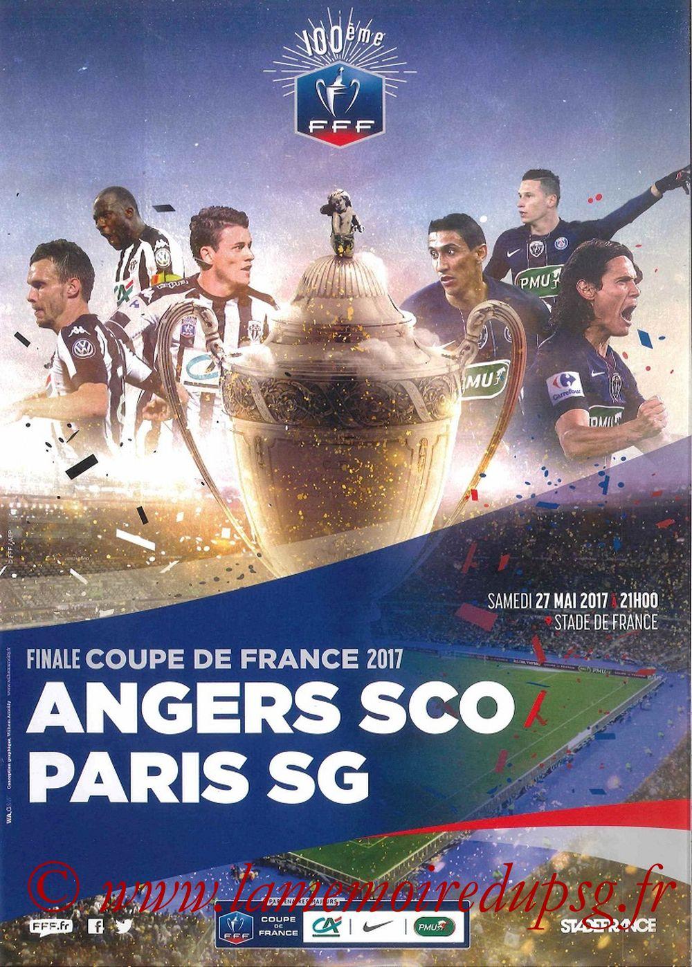 2017-05-27  Angers-PSG (Finale CF à Saint-Denis, Programme officiel)