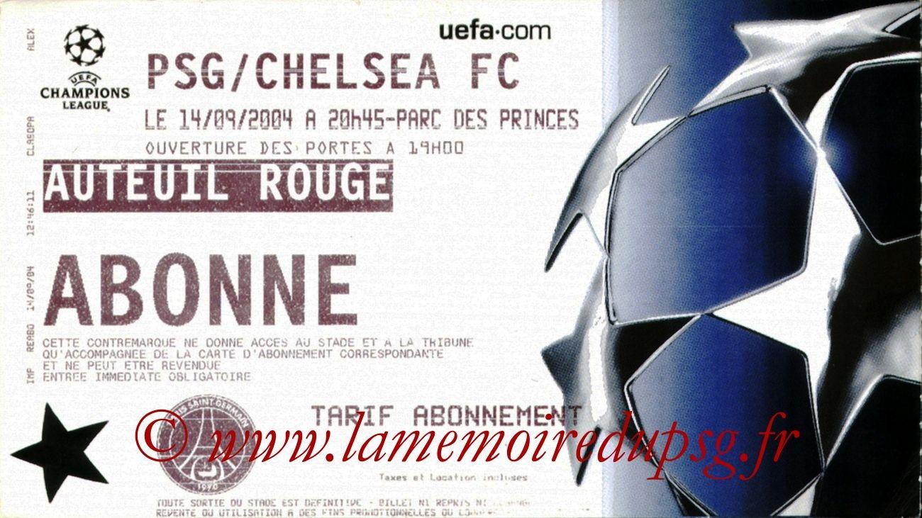 2004-09-14  PSG-Chelsea (1ère Journée Poule C1)