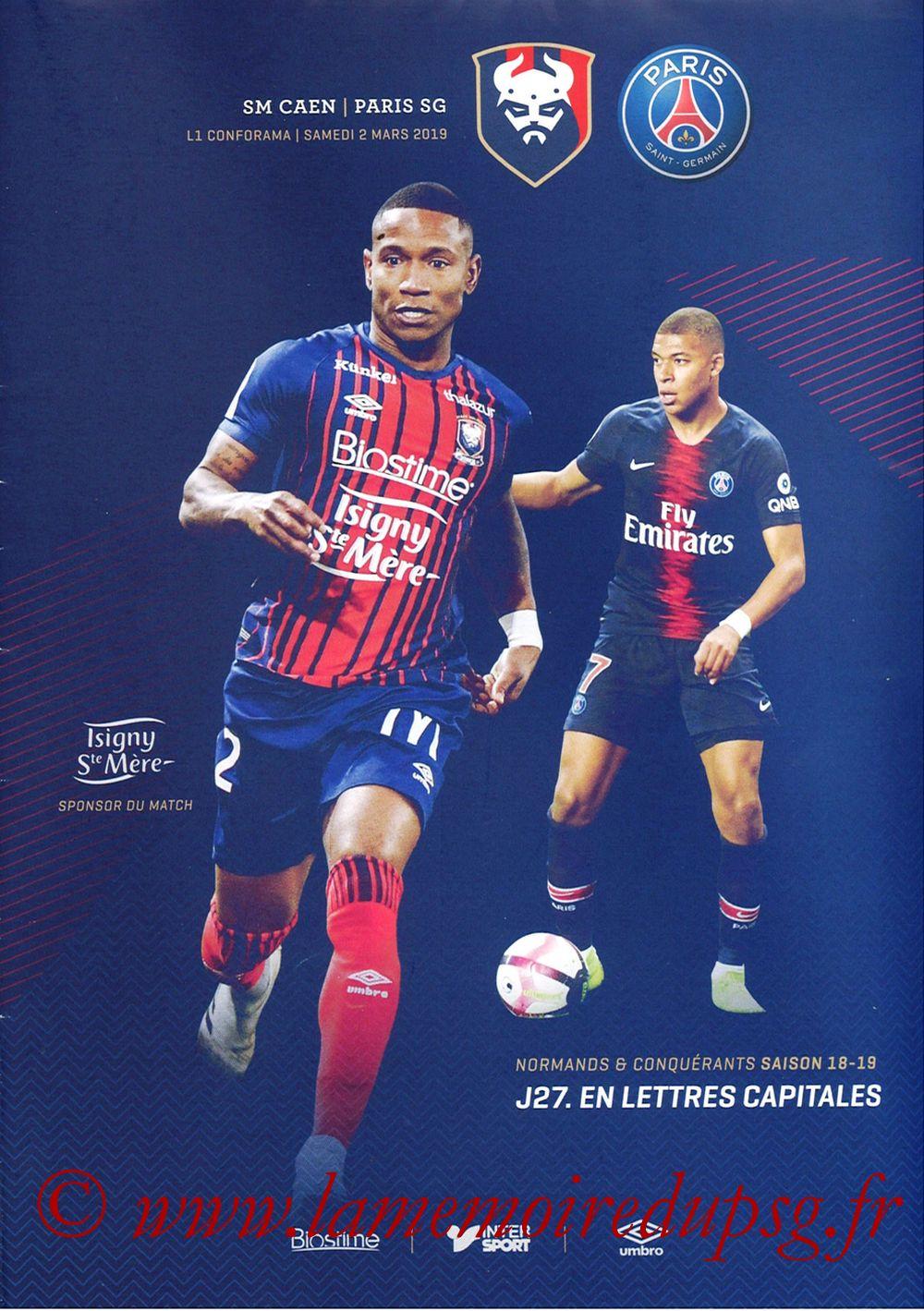 2019-03-02  Caen-PSG (27ème L1, Programme officiel)