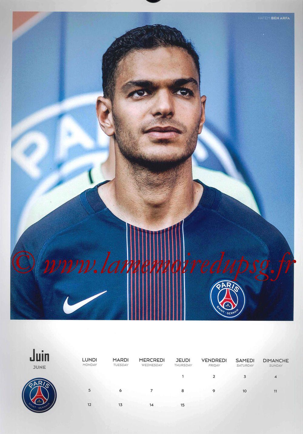 Calendrier PSG 2017 - Page 11 - Hatem BEN ARFA