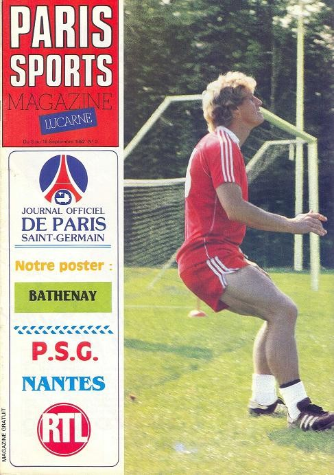 1982-09-03  PSG-Nantes (5ème D1, Paris Sports Magazine N°3)