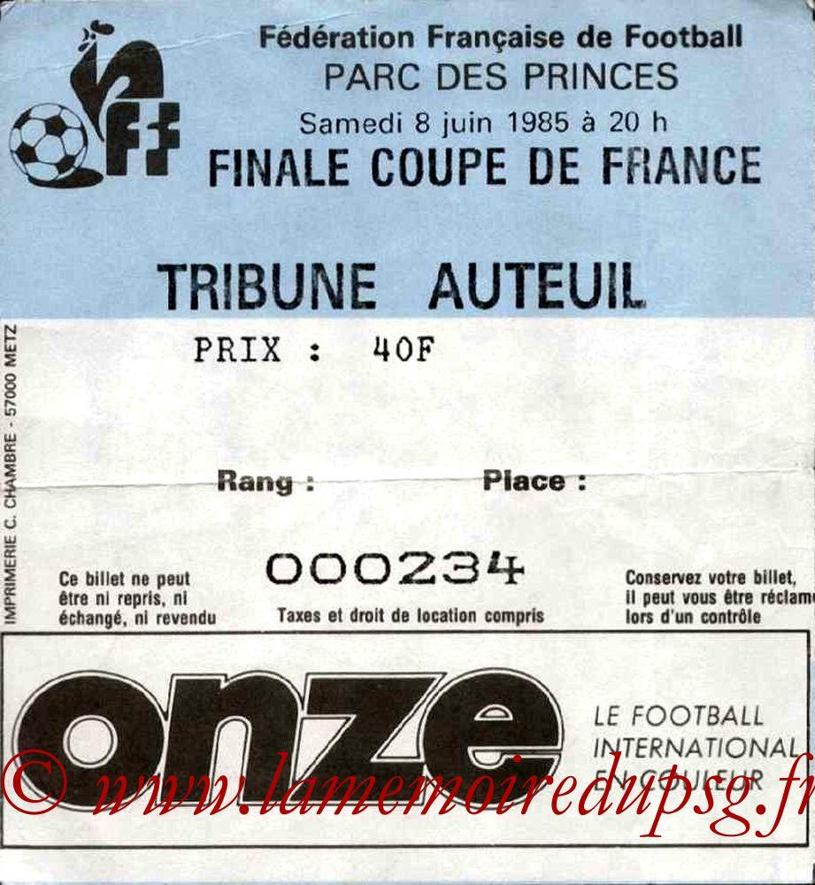 1985-06-08  PSG-Monaco (Finale CF au Parc des Princes, Sans Nom)