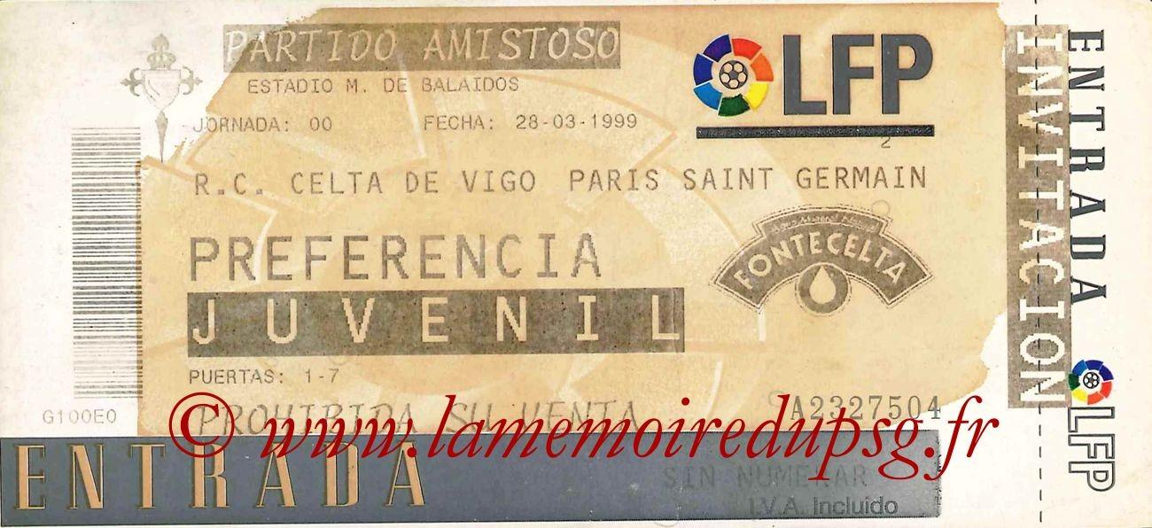 1999-03-28  Celta Vigo-PSG (Amical à Vigo)