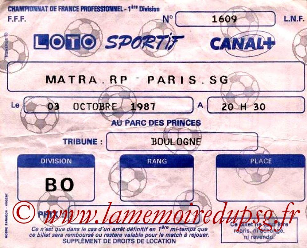 1987-10-02  Matra Racing-PSG (13ème D1)