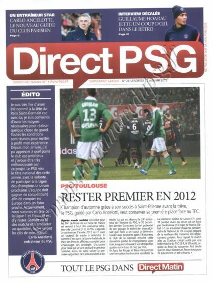 2011-01-14  PSG-Toulouse FC (20ème L1, Direct PSG N°26)