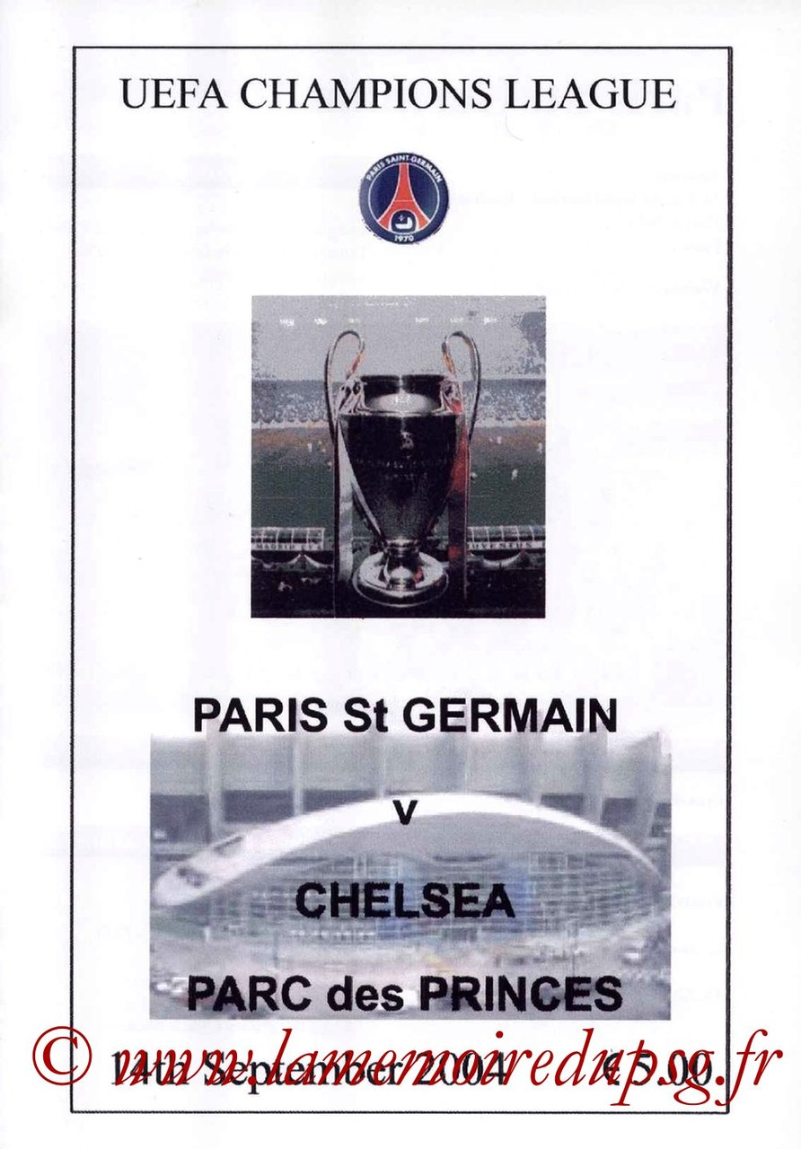 2004-09-14  PSG-Chelsea (1ère Poule C1, Pirate2)