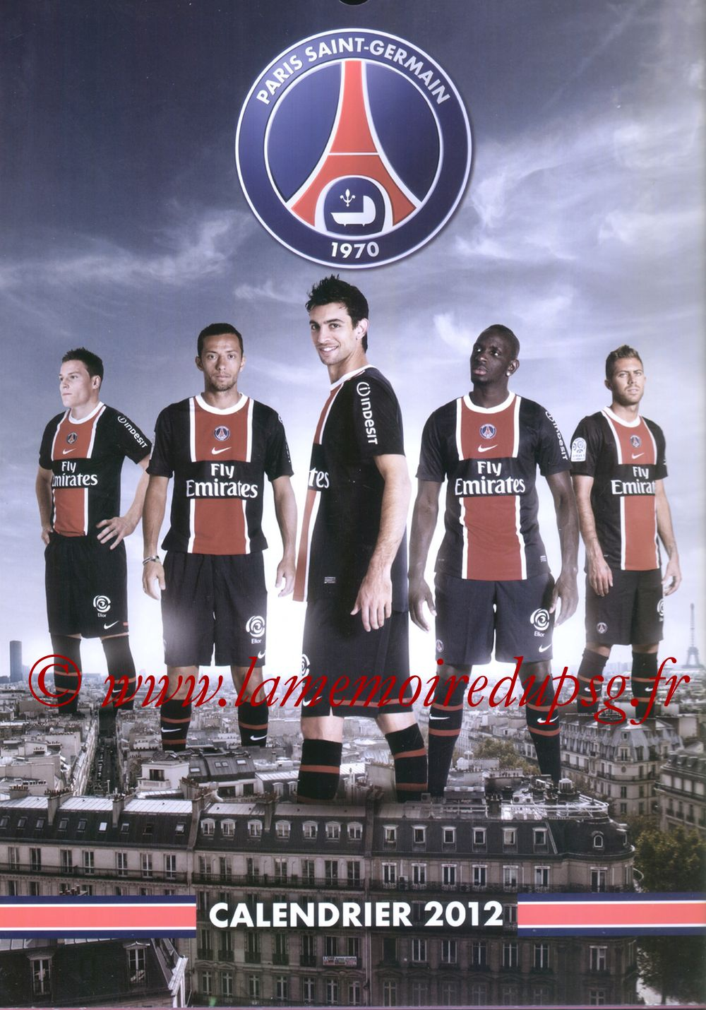 Calendrier PSG 2012 - Couverture