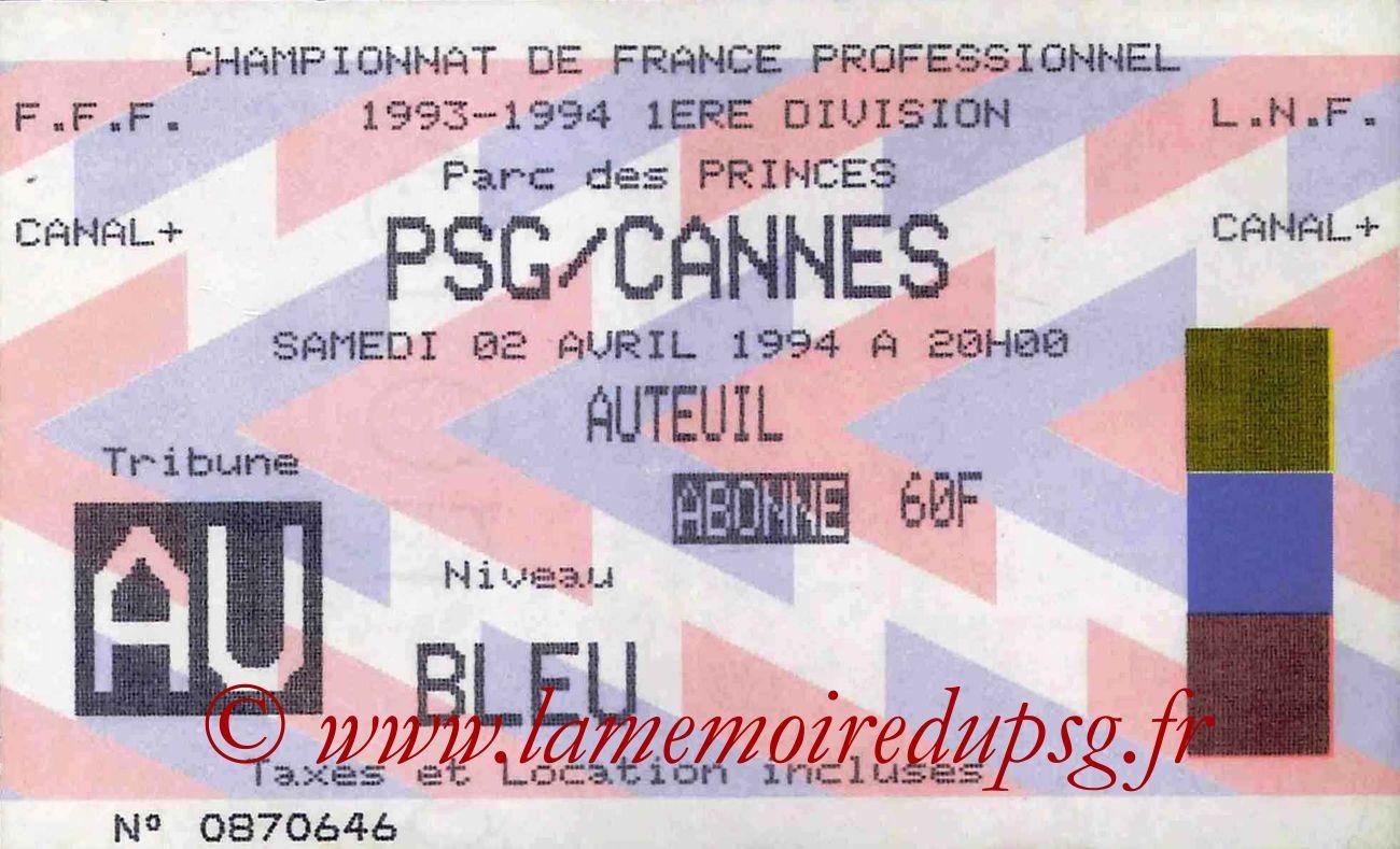 1994-04-02  PSG-Cannes (32ème D1)