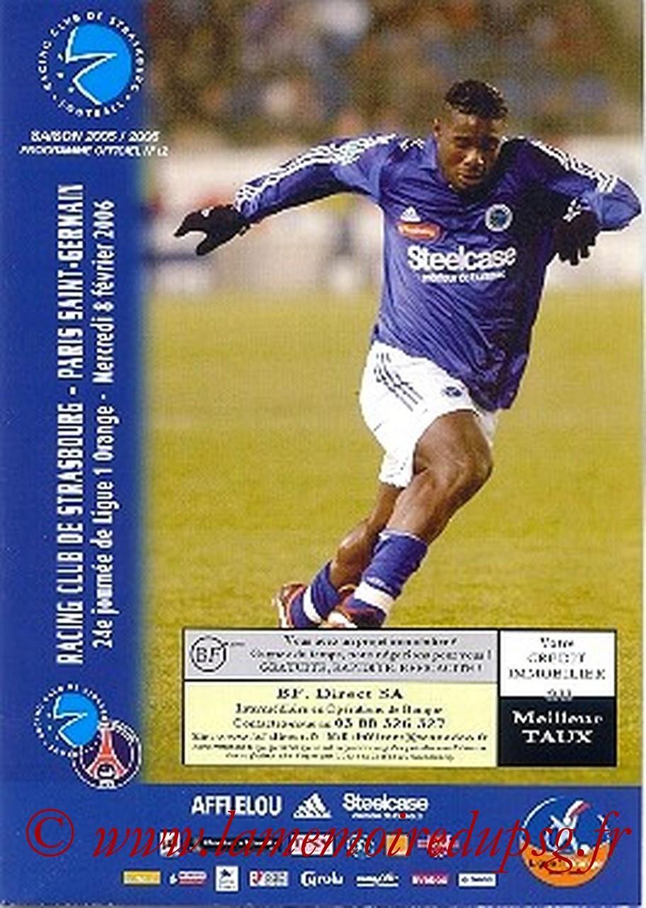 2006-02-08  Strasbourg-PSG (24ème L1, Match en retard, Programme officiel N°12)