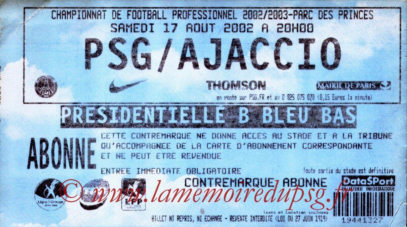2002-08-17  PSG-Ajaccio (3ème L1, bis)