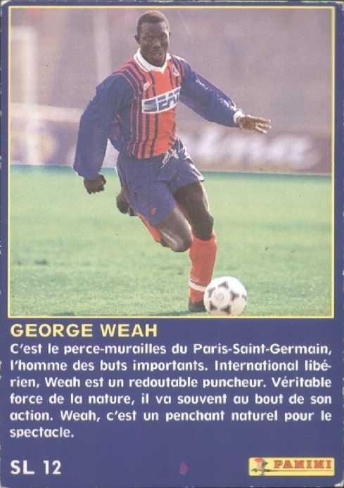 N° SL12 - George WEAH (Verso)