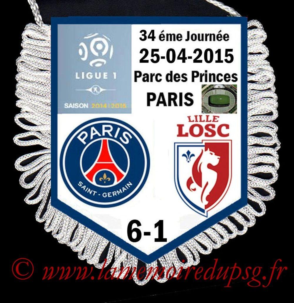 2015-04-25  PSG-Lille (34ème L1)