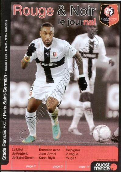 2013-04-06  Rennes-PSG (31ème L1, Rouge & Noir le journal N°20)