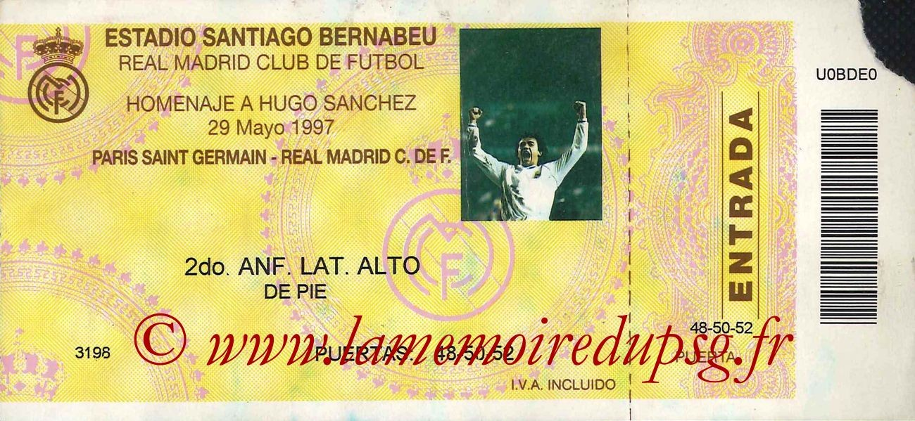 1997-05-29  Real Madrid-PSG (Jubilé Hugo Sanchez)