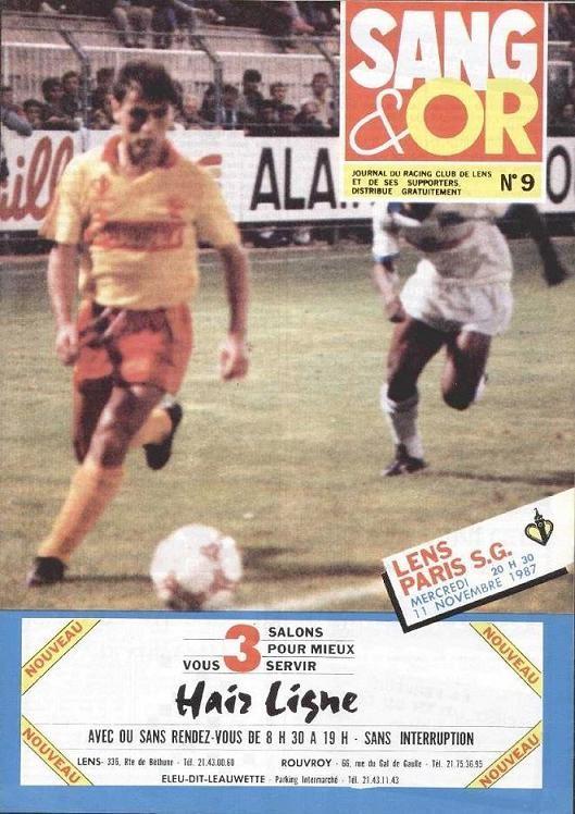 1987-11-11  Lens-PSG (19ème D1, Sang et Or N°9)