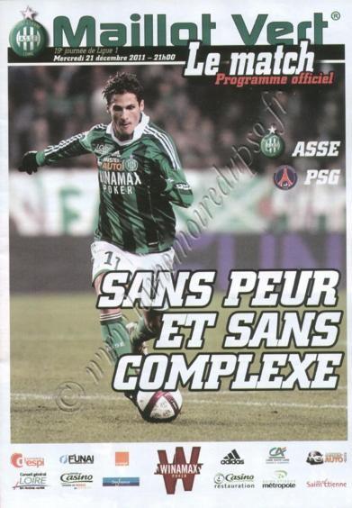 2011-12-21  Saint Etienne-PSG (19ème L1, Maillot vert)