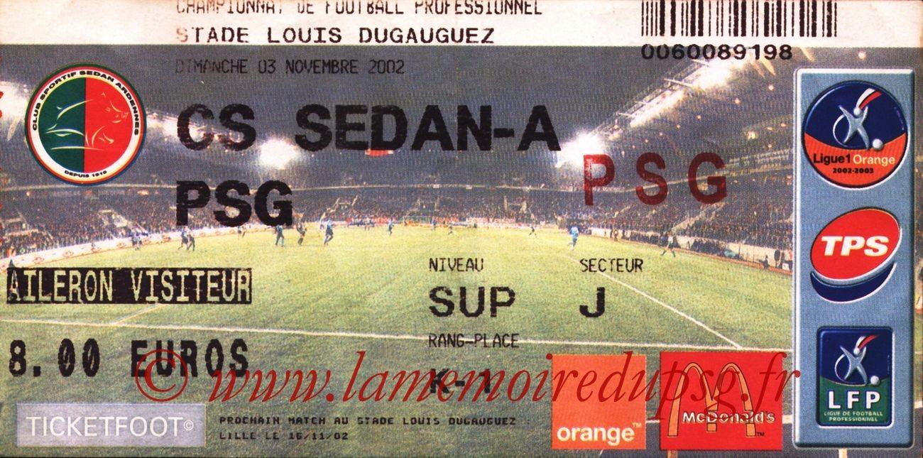 2002-11-03  Sedan-PSG (13ème L1)