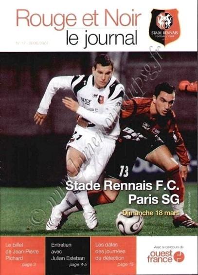 2007-03-18  Rennes-PSG (29ème L1, Rouge et Noir N°17)