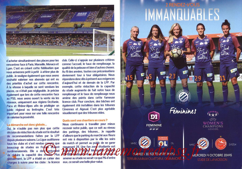 2017-09-23  Montpellier-PSG (7ème L1, L'Echo de la Mosson N°4) - Pages 24 et 25