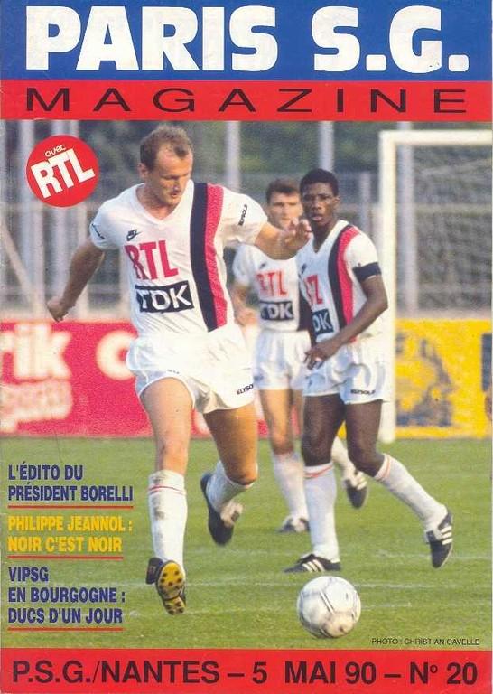 1990-05-05  PSG-Nantes (36ème D1, Paris SG Magazine N°20)