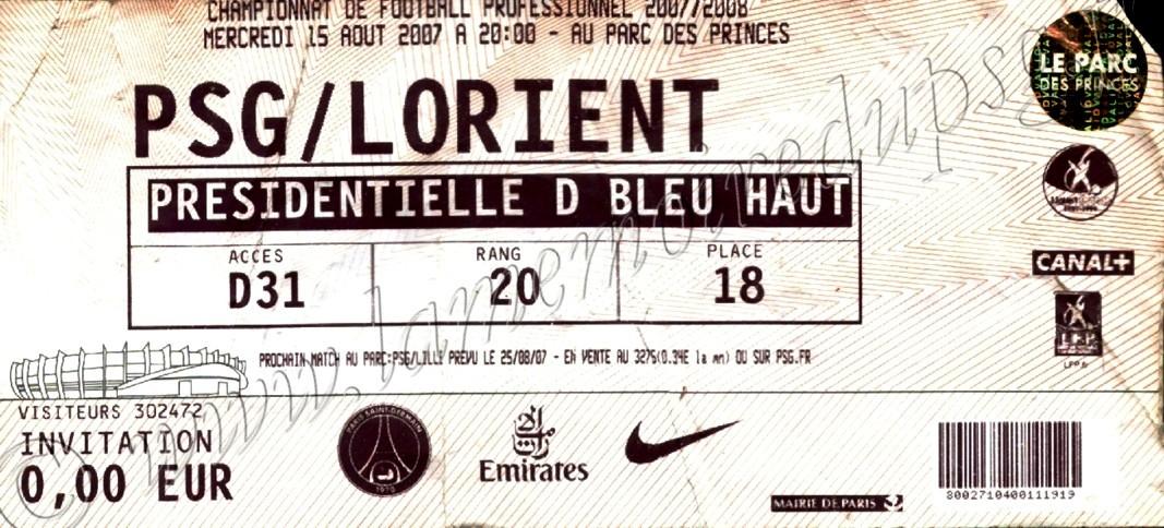 2007-08-15  PSG-Lorient (3ème L1)