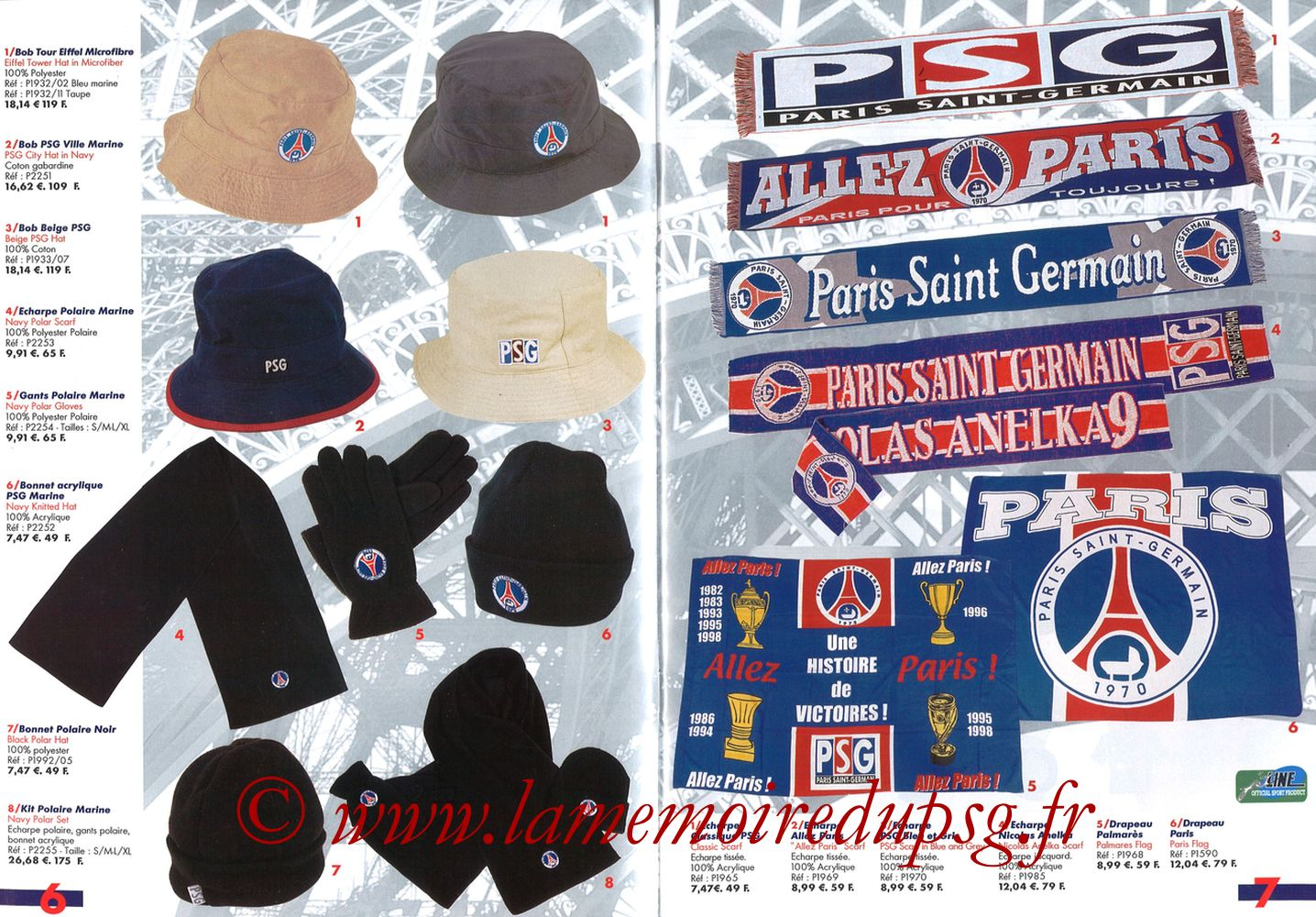 Catalogue PSG - 2001-02 - Pages 06 et 07