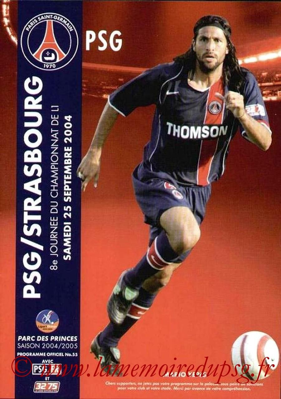 2004-09-25  PSG-Strasbourg (8ème L1, Officiel N°55)