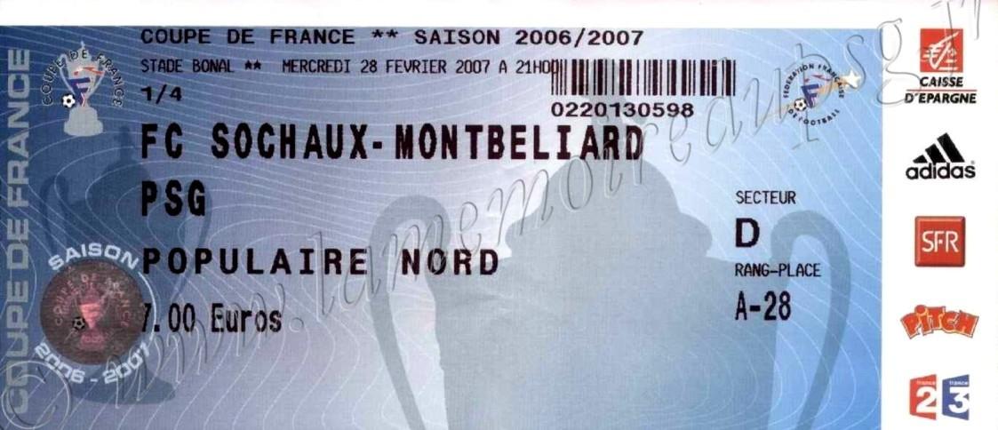 2007-02-28  Sochaux-PSG (Quart Finale CF)