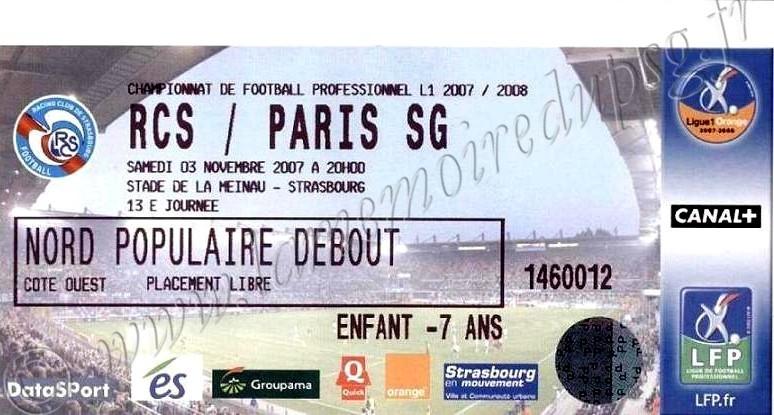 2007-11-03  Strasbourg-PSG (13ème L1)