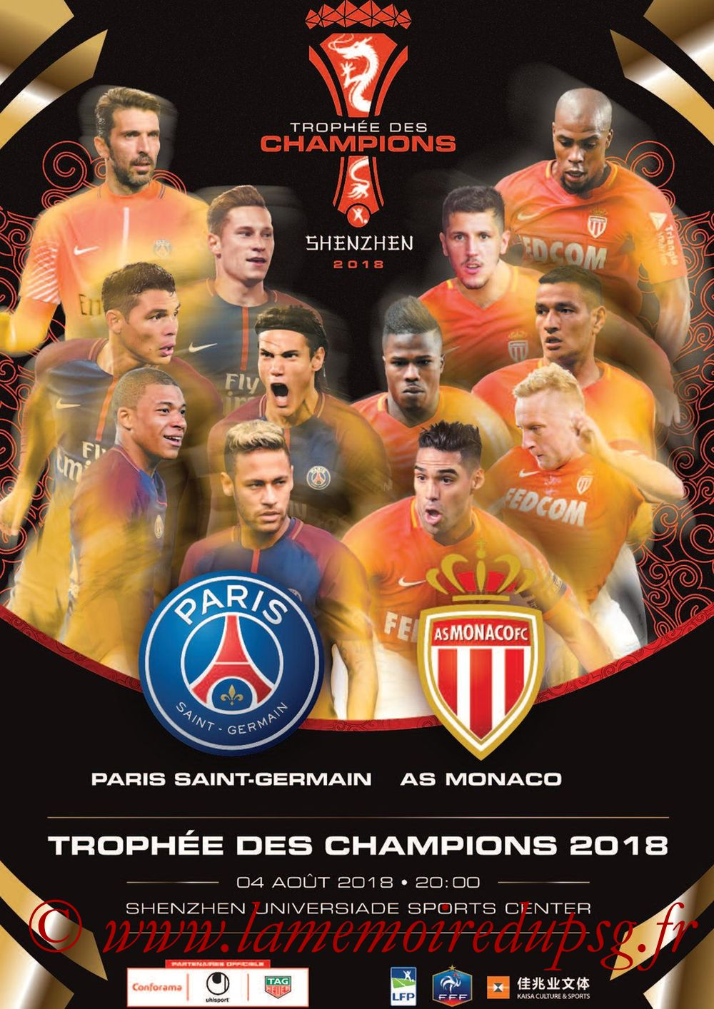 2018-08-04  PSG-Monaco (Trophée des Champions à Shenzhen, Dossier de Presse)