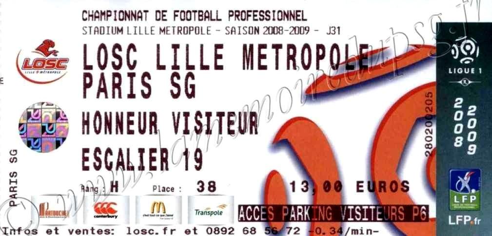 2009-04-12  Lille-PSG (31ème L1)
