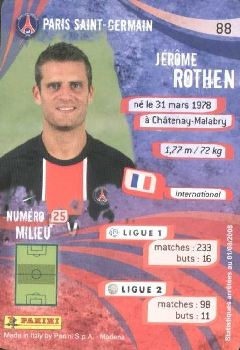 N° 088 - Jerome ROTHEN (Verso)