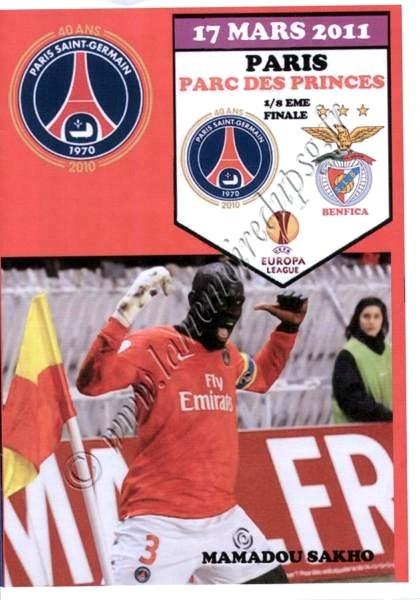 2011-03-17  PSG-Benfica (8ème Finale Retour C3, Programme pirate)