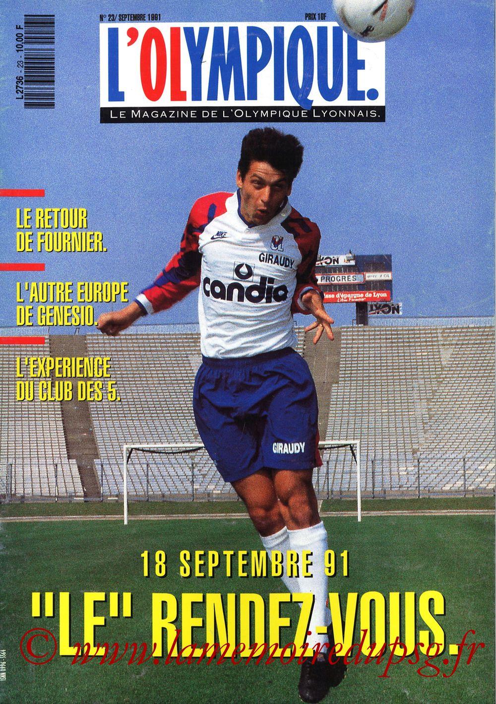 1991-09-07  Lyon-PSG (9ème D1, L'Olympique N°23)