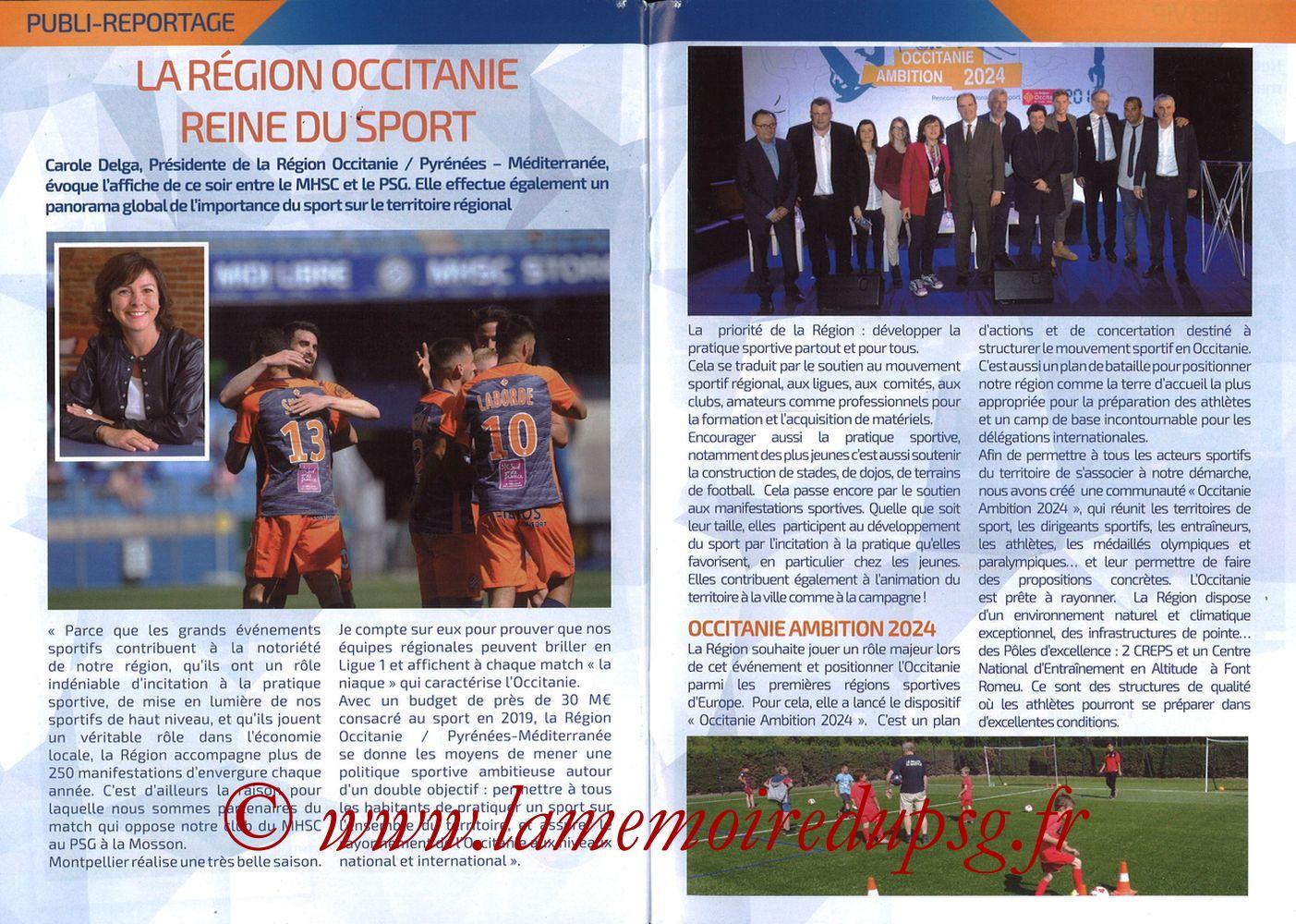 2019-04-30  Montpellier-PSG (34ème L1, L'Echo de la Mosson N°17) - Pages 28 et 29