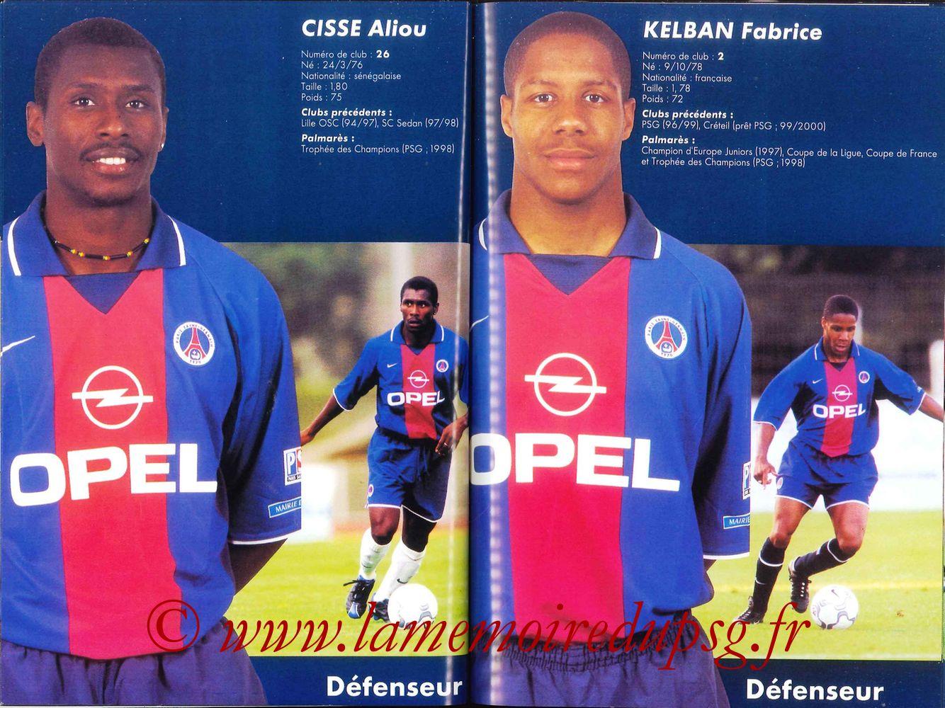 2000-01 - Guide de la Saison PSG - Pages 40 et 41