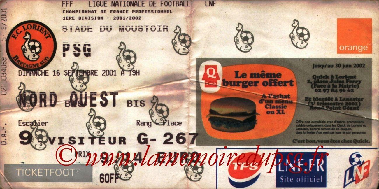 2001-09-16  Lorient-PSG (7ème D1)