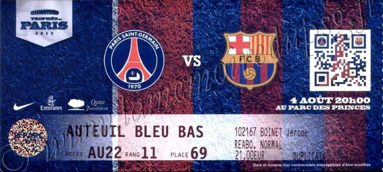 2012-08-04  PSG-Barcelone (Amical au Parc des Princes)