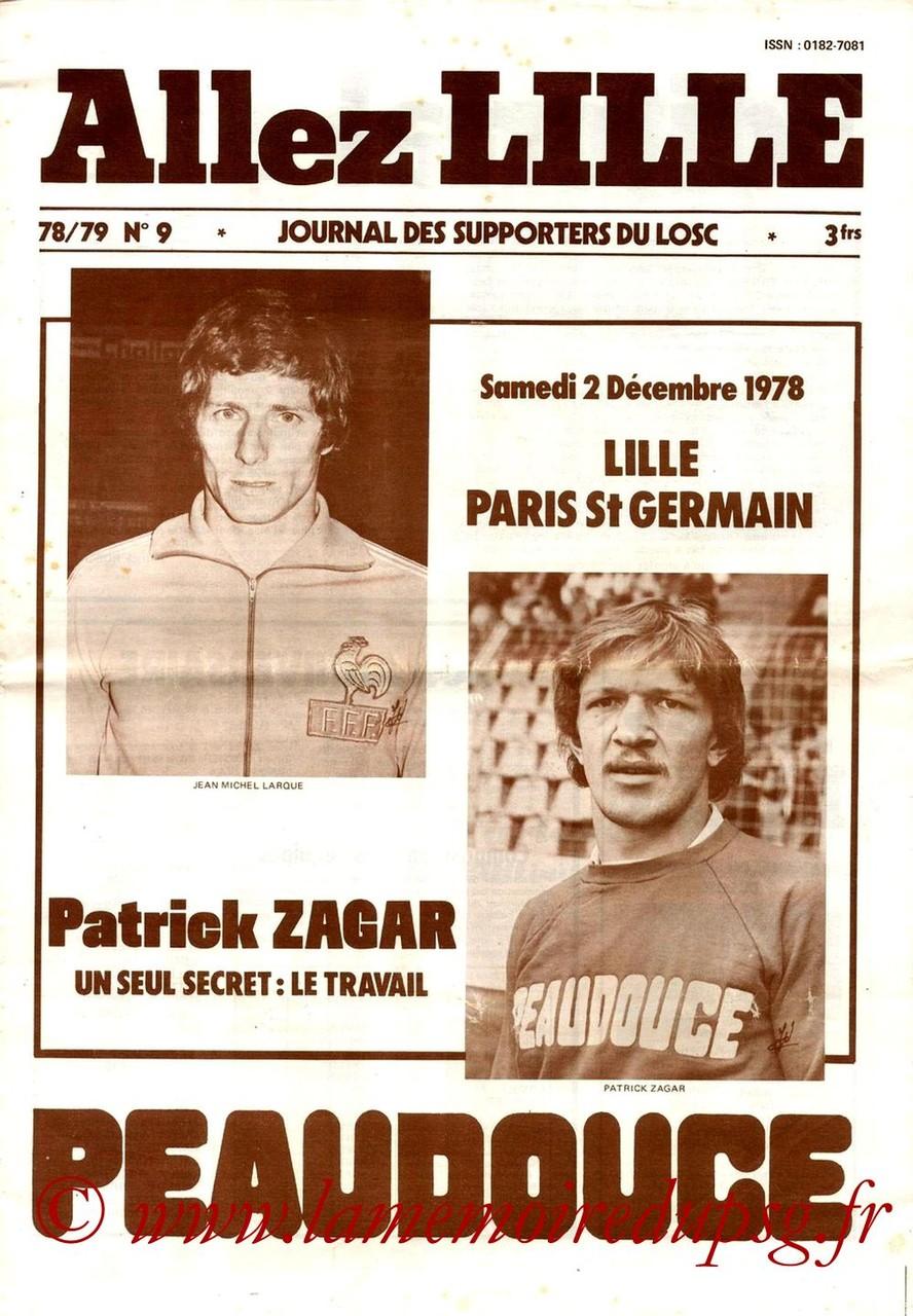 1978-12-02  Lille-PSG (22ème D1, Allez Lille N°9)
