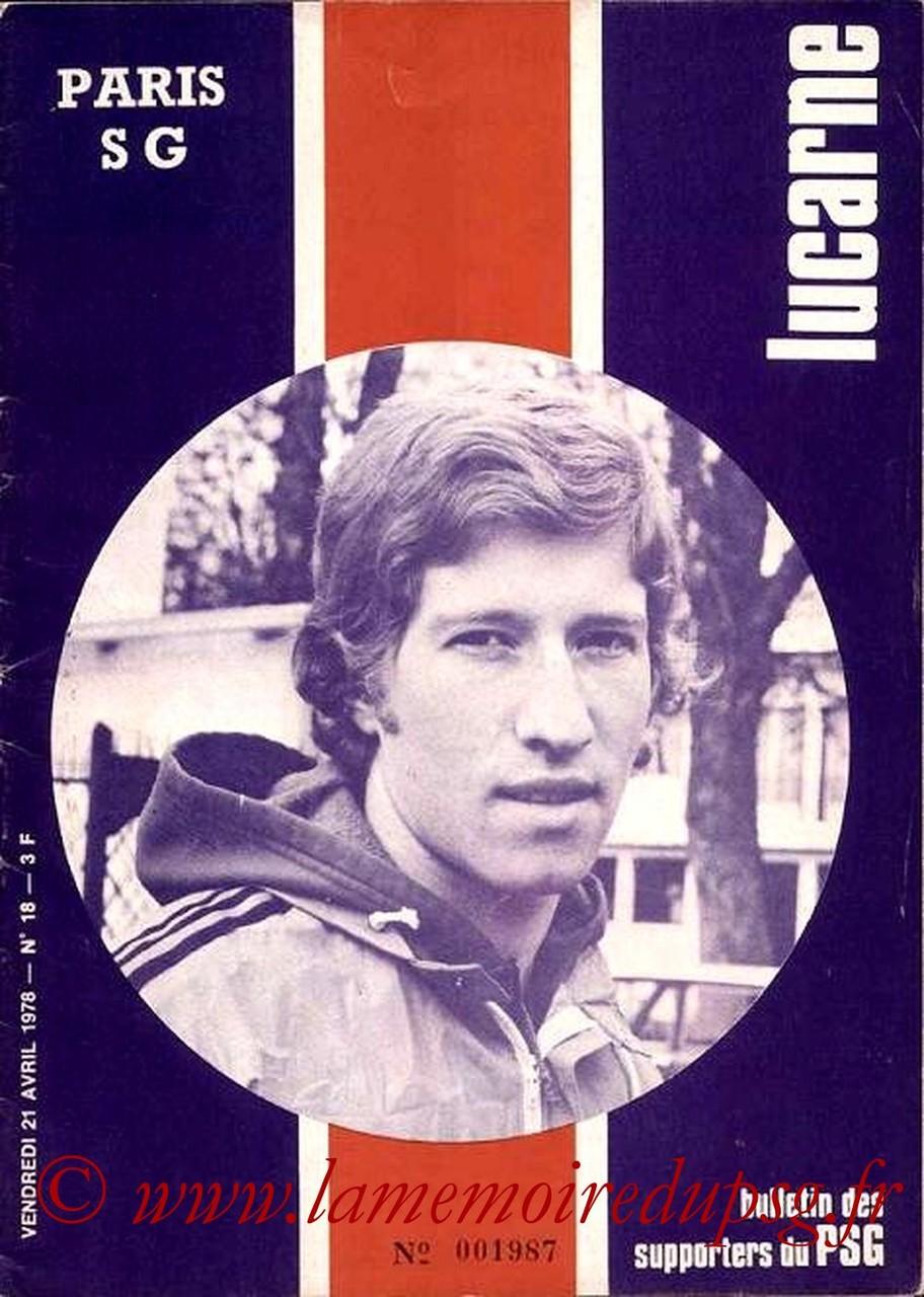 1978-04-21  PSG-Lens (35ème D1, Lucarne N°18)