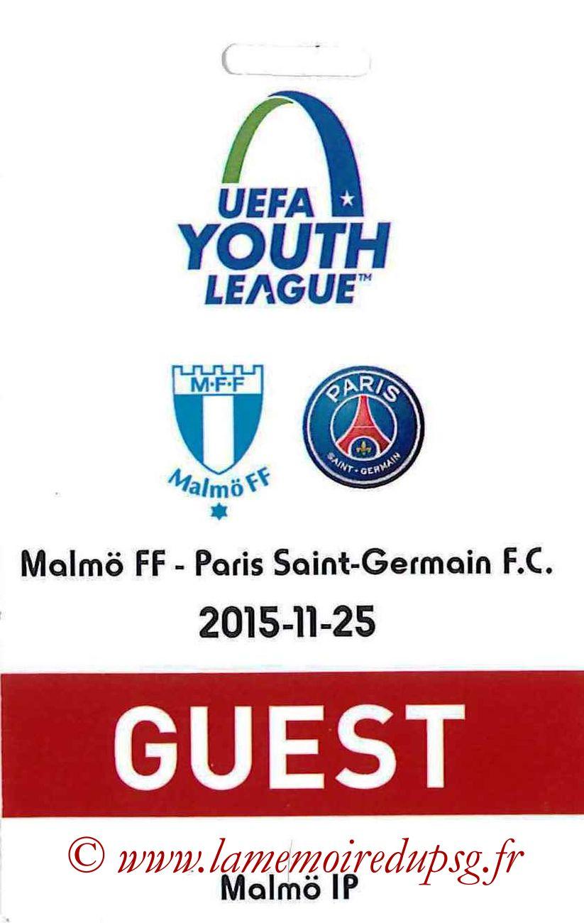 2015-11-25  Malmo-PSG (5ème C1, Guest)