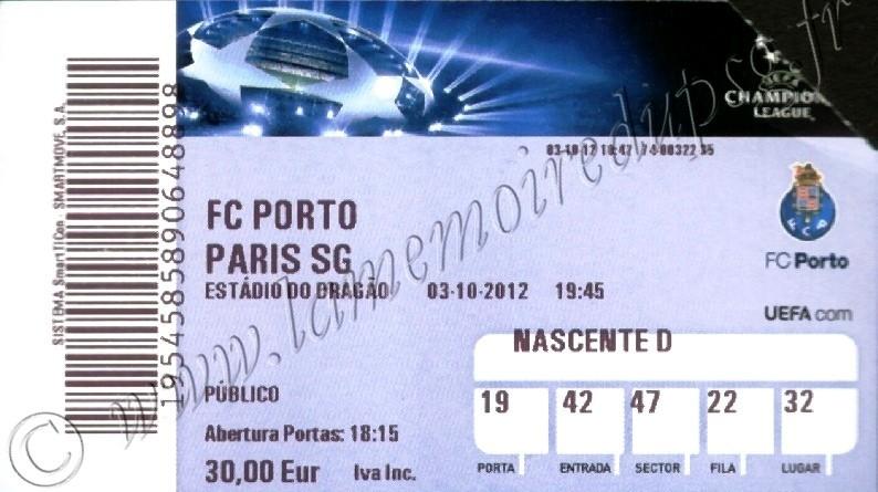 2012-10-03  FC Porto-PSG (2ème Journée Poule C1)