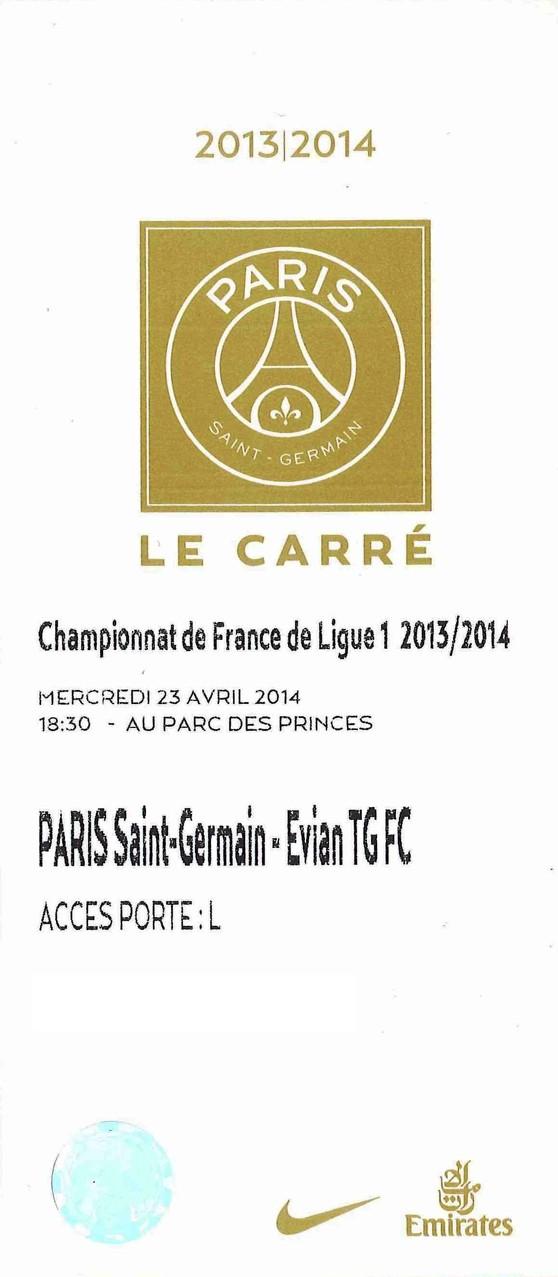 2014-04-23  PSG-Evian TG (34ème L1, Le carré)