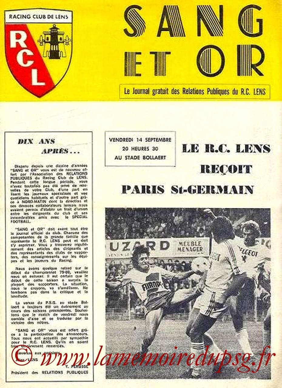 1979-09-14  Lens-PSG (8ème D1, Sang et Or)