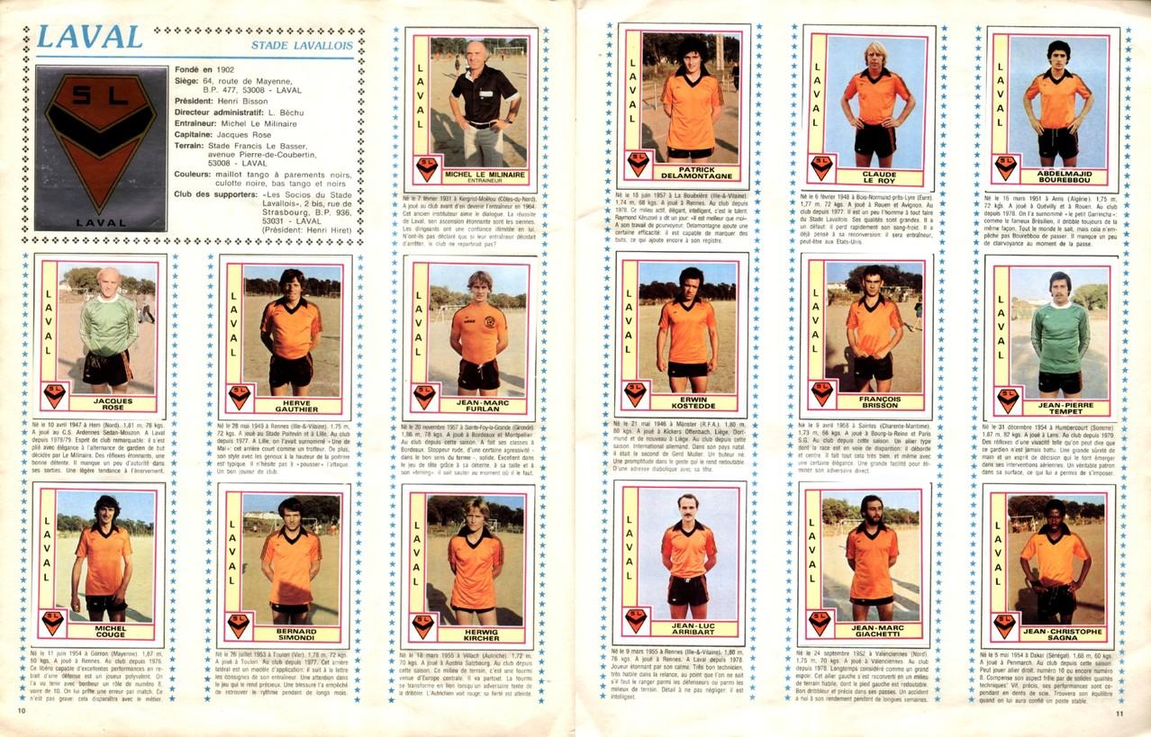 1979-80 - Panini 1980 - Pages 10 et 11 - Stade Lavallois