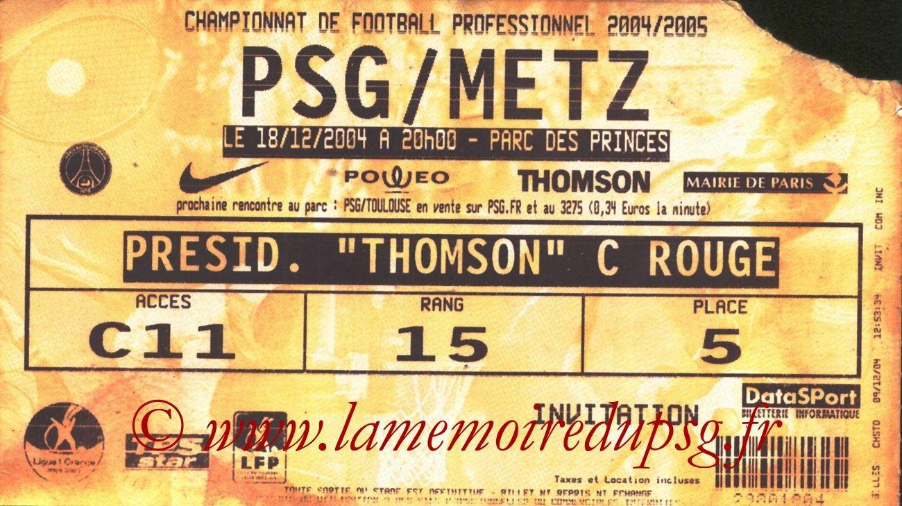2004-12-18  PSG-Metz (19ème L1, bis)