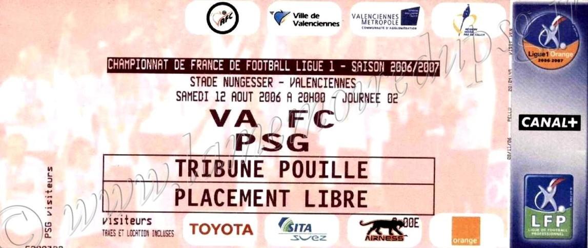 2006-08-12  Valenciennes-PSG (2ème L1)